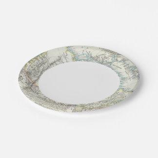 Alaska, Canada, Greenland Paper Plate