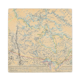 Alaska, Canada, Greenland Wood Coaster
