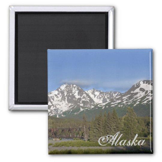 Alaska Chugach Mountain Magnet
