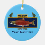 Alaska Combat Fisherman Badge Round Ceramic Decoration