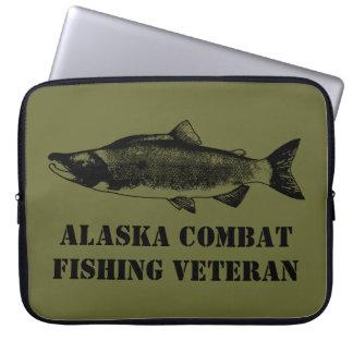 Alaska Combat Fishing Veteran Laptop Computer Sleeve
