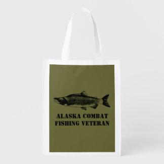 Alaska Combat Fishing Veteran Market Totes
