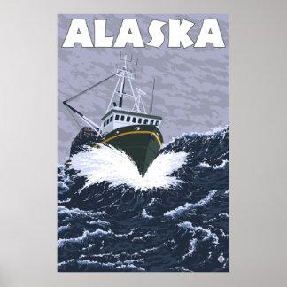 Alaska - Crab Boat Poster