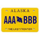 Alaska Custom License Plate Magnet