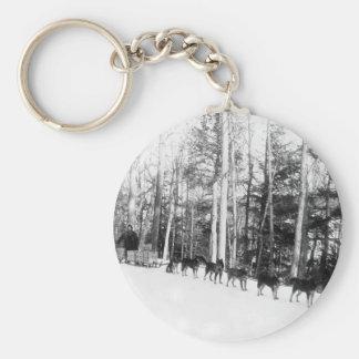 Alaska Dog Sledding Key Ring