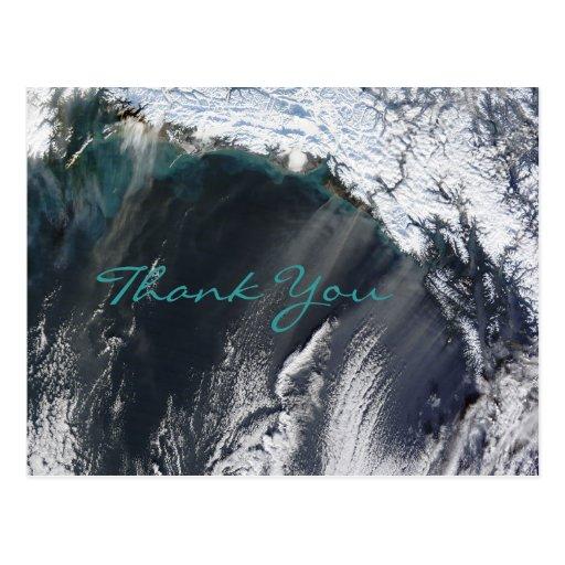 Alaska Dust Storm Thank You Postcard
