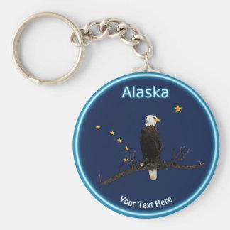 Alaska Eagle And Flag Key Ring