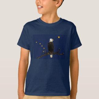 Alaska Eagle And Flag T-Shirt