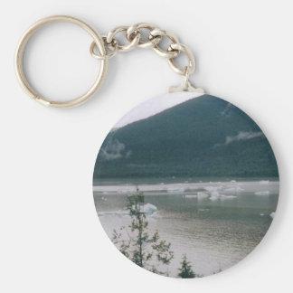 Alaska Fjord Basic Round Button Key Ring