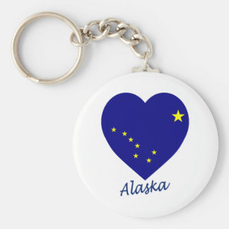 Alaska Flag Heart Key Ring