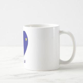 Alaska Flag Heart Basic White Mug