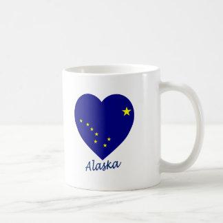 Alaska Flag Heart Mug
