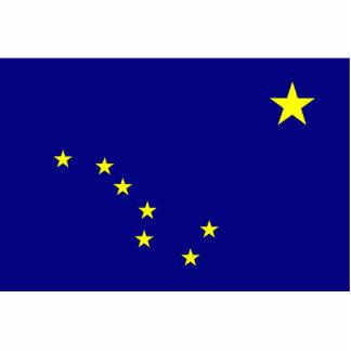 Alaska Flag Keychain Cut Out