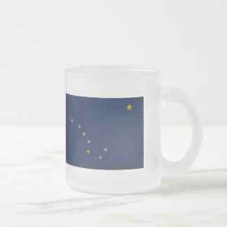 Alaska Flag VINTAGE.png Frosted Glass Coffee Mug