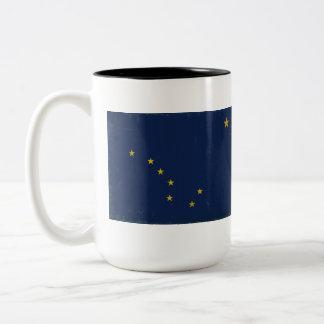 Alaska Flag VINTAGE.png Two-Tone Coffee Mug