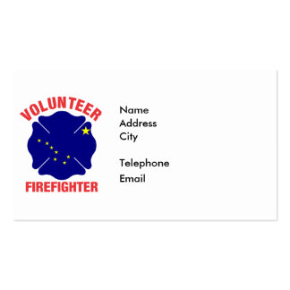 Alaska Flag Volunteer Firefighter Cross Pack Of Standard Business Cards