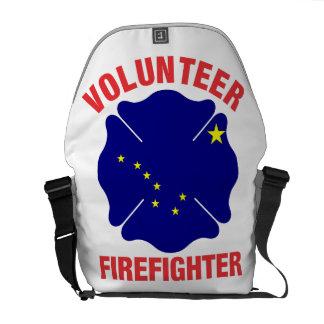 Alaska Flag Volunteer Firefighter Cross Messenger Bag