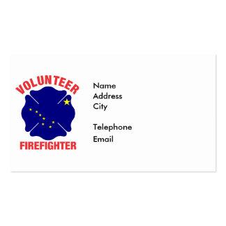 Alaska Flag Volunteer Firefighter Cross Pack Of Standard Business Cards