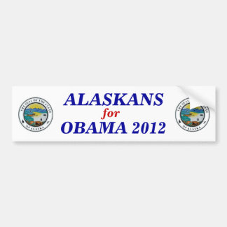Alaska for Obama 2012 sticker