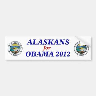 Alaska for Obama 2012 sticker Bumper Sticker