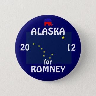 Alaska for Romney 2012 6 Cm Round Badge