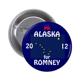 Alaska for Romney 2012 6 Cm Round Badge