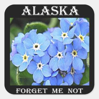 Alaska Forget Me Not Square Sticker