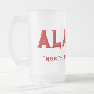 ALASKA FROSTED GLASS BEER MUG