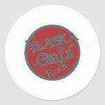 Alaska Girls Rock Round Sticker