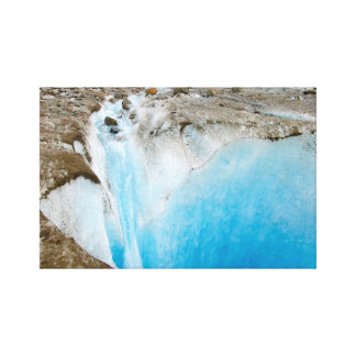 Alaska Glacier photo on stretched canvas