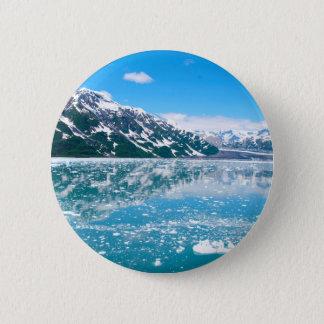 Alaska Glasier 6 Cm Round Badge