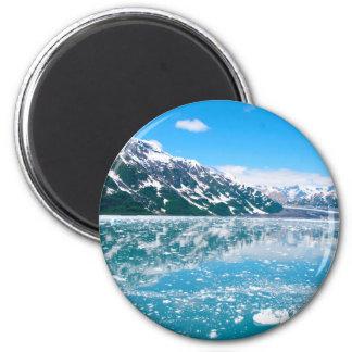 Alaska Glasier 6 Cm Round Magnet