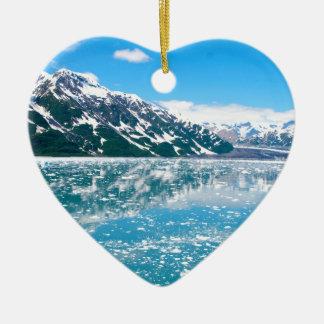 Alaska Glasier Ceramic Heart Decoration