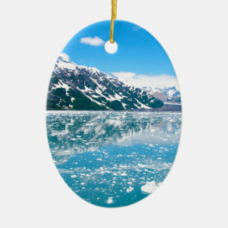 Alaska Glasier Christmas Ornament