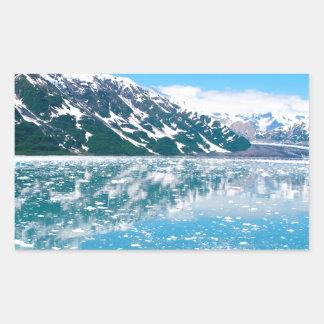 Alaska Glasier Rectangular Sticker