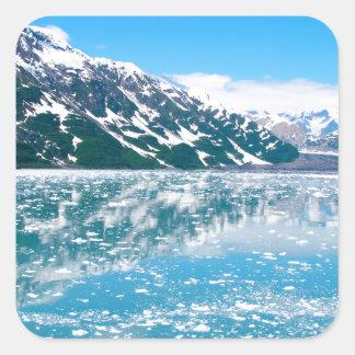 Alaska Glasier Square Sticker