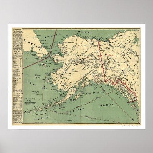 Alaska Gold Fields Map 1897 Posters