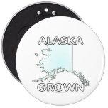 Alaska Grown 6 Cm Round Badge