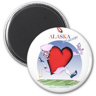 alaska head heart, tony fernandes 6 cm round magnet