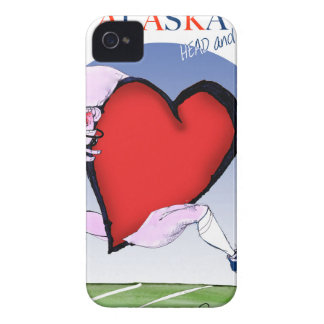 alaska head heart, tony fernandes iPhone 4 case