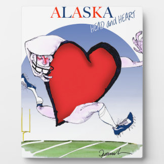 alaska head heart, tony fernandes plaque