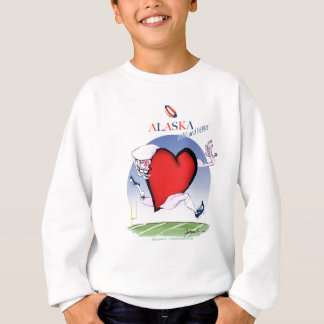 alaska head heart, tony fernandes sweatshirt