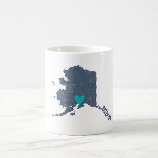 Alaska Heart mug (gray) - Customizable!