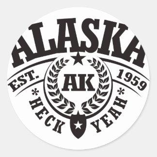 Alaska Heck Yeah Est 1959 Round Sticker