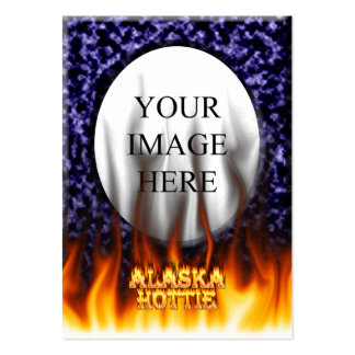 Alaska Hottie fire and flames Blue marble. Business Card