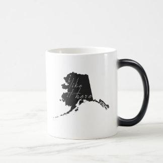 Alaska I Like It Here State Silhouette Black Morphing Mug