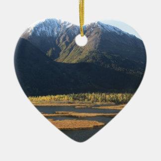 Alaska in Autumn Ceramic Heart Decoration