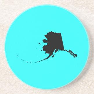 Alaska in Black and Aqua Coaster