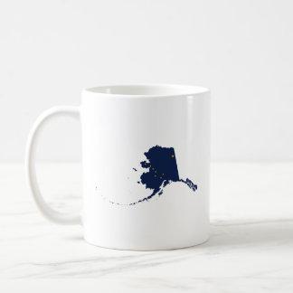Alaska in Blue and Gold Coffee Mug