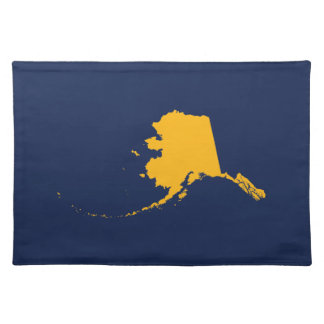Alaska in Blue and Gold Placemat